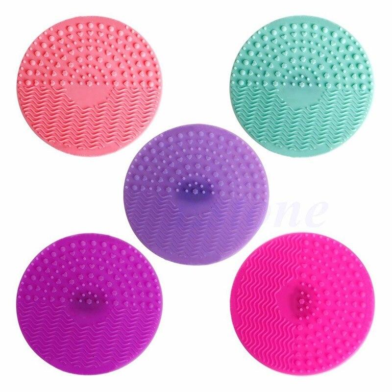 Silicone Esteira Profissional Escova Cosmética Pinceles Maquiagem Escova De Limpeza Lavagem Escova Pad Glove Scrubber com Ventosa