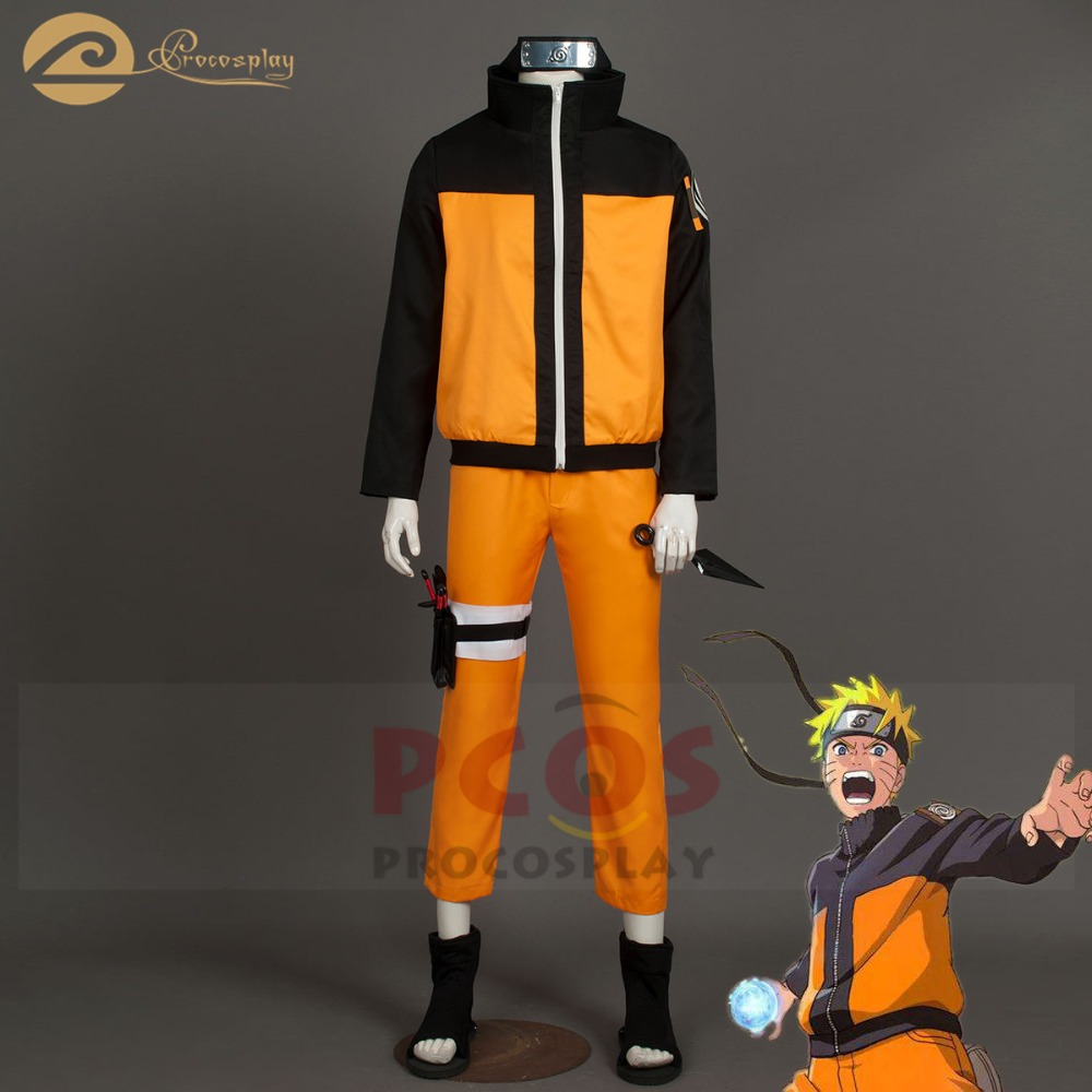 Excellent Deluxe Set~ Naruto Shippuden Uzumaki Cosplay Costume mp000059 0