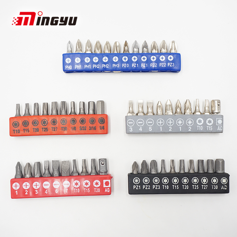 1 set 1/4 Inch Hex Shank Drive Screwdriver Bit Torx Phillips Pozi Commonly Used Screw Driver Bits And Adapter With Holder