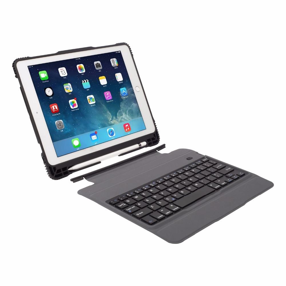 超薄型着脱式ワイヤレス Bluetooth キーボードケース Ipad のプロ 10.5 A1701 A1709 ケース Funda 鉛筆ペン + flim + ペン  グループ上の パソコン & オフィス からの タブレット & 電子書籍ケース の中 3
