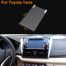 Car Styling 7 Inch GPS Navigation Screen Steel Protective Film For Toyota Yaris Control of LCD Screen Car Sticker