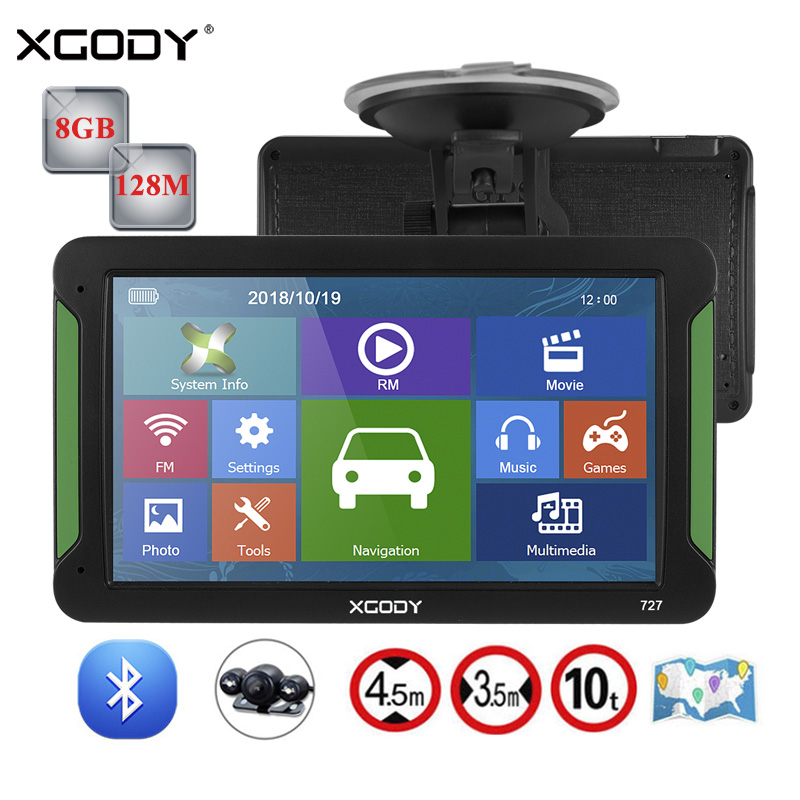 Xgody Capacitive-Screen Navigation Truck Gps Gps-Accessories Fm-Transmitter Sat Nav 8GB