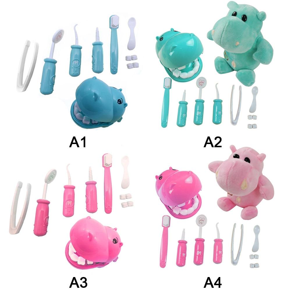 9 шт. дети ролевые плюшевые играть стоматолог проверить зубы модель комплект спецодежда медицинская комплект развивающие ролевые игр