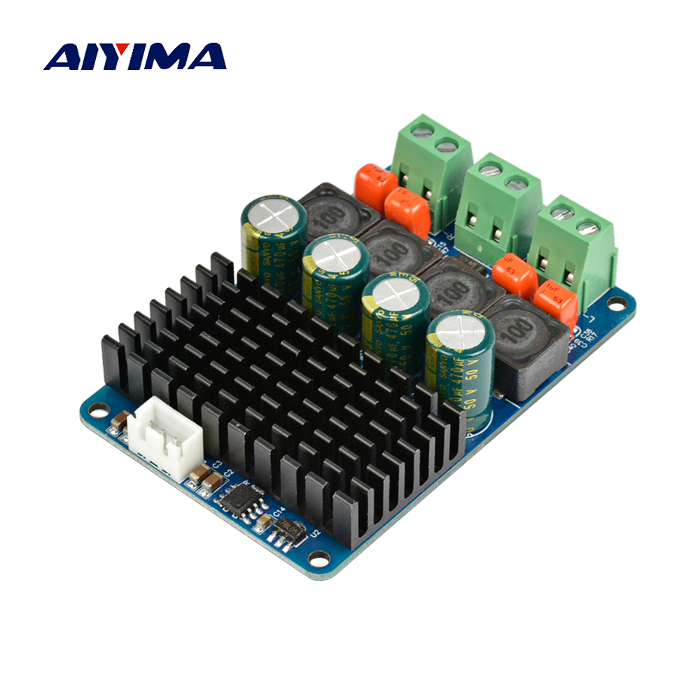 Aiyima TPA3116 Dual 2x100W Digital Amplifier Board Stereo High Power PBTL Audio Amplifier for 4 Ohm 8Ohm Speaker