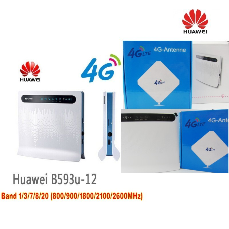Lot of 20pcs Unlocked Huawei B593 B593u-12 FDD 4G LTE WiFi Router with sim card slot+3G 4G LTE 35dbi External omni Antenna стоимость