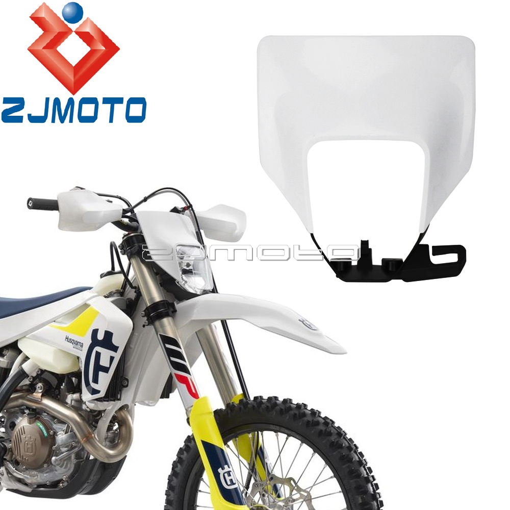 Dirt Bike Headlight Plastic Fiairing For <font><b>Husqvarna</b></font> FE <font><b>TE</b></font> 125 150 250 <font><b>300</b></font> 350 450 501 TX125 2017 2018 <font><b>2019</b></font> Headlamp Mask Cover image