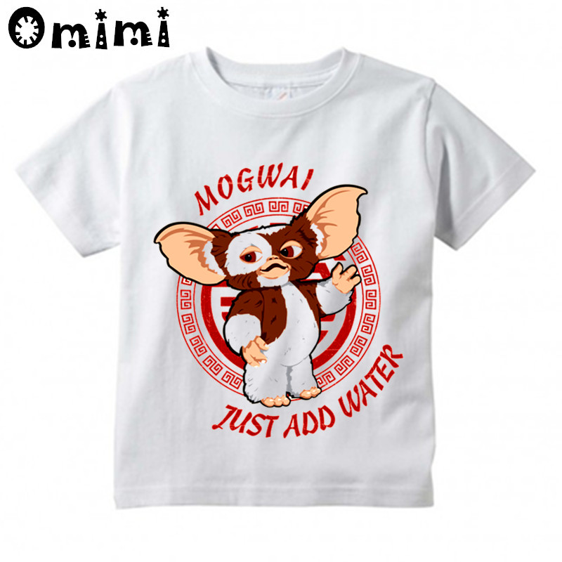 Kids Gremlins Gizmo Design T Shirt Boys and Girls Great Casual Short Sleeve Tops Children's Funny T-Shirt children s anime my neighbor totoro printed t shirt kids great casual short sleeve tops boys and girls cute t shirt