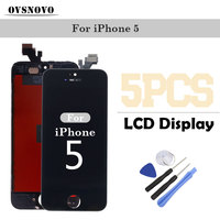 5PCS Wholesale AAA LCD Touch Display For Iphone 4 4s 5 5s 5c Replacement Screen Digitizer