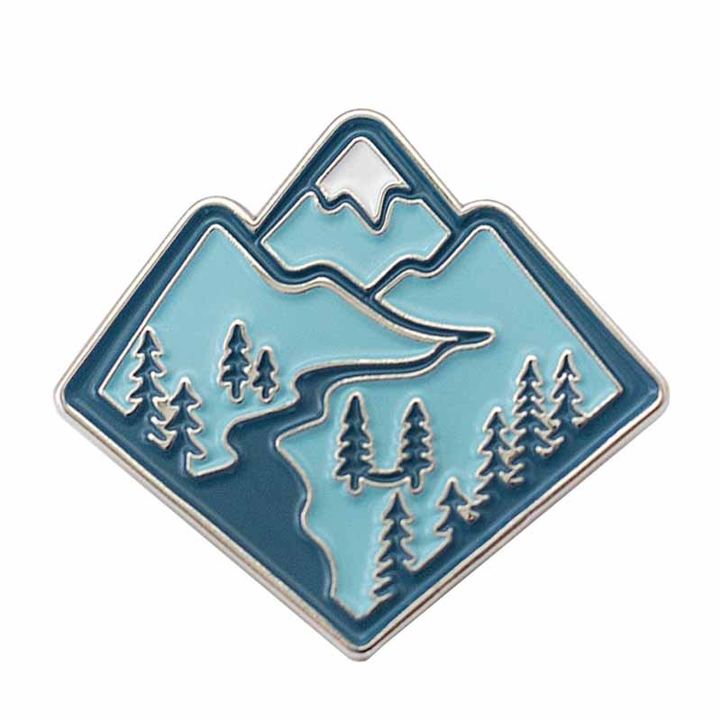 Mountain Enamel Pin Backpack Hammock Exploring nature Mountain Adventure badge