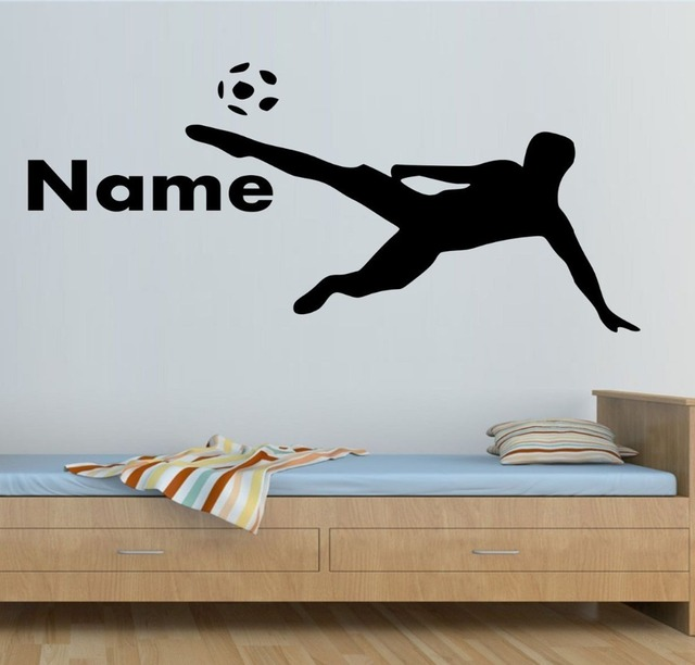 Boys Room Decal Custom Name Sports Play Football Wall Sticker Home Decor  Vinyl Murals Kids Room Decals KW 329