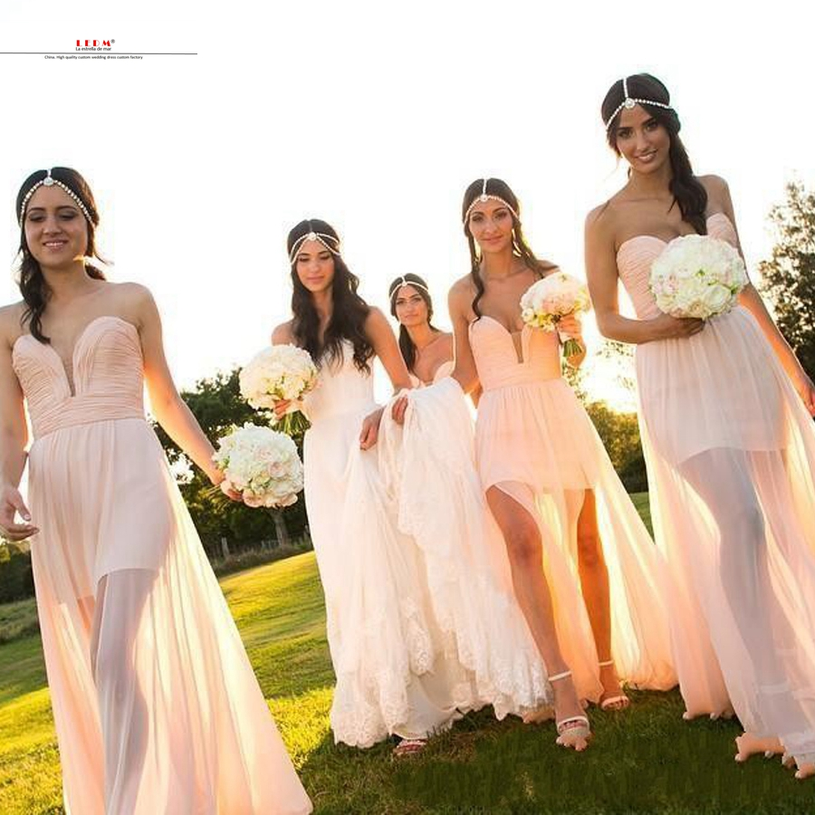 Popular wisteria bridesmaid dress buy cheap wisteria bridesmaid robe demoiselle dhonneur 2017 chiffon sexy sweetheart champagne high and low beautiful bohemian bridesmaid ombrellifo Choice Image