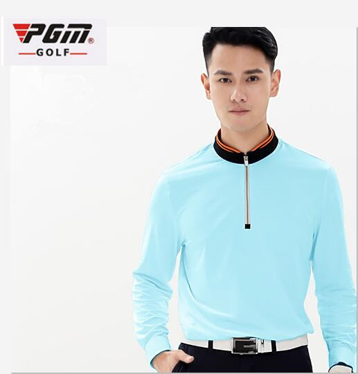 PGM Golf Clothing Mens Golf Polo Shirts New Breathable Elastic Golf Full Uniforms Tshirts Ropa De Golf Men Table Tennis Shirt