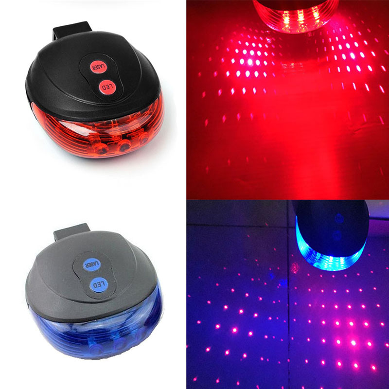 For Safety Bicycle Lights 5LED+2Laser Bike Light MTB Bicycle Rear Tail Lights Cycling Lamp Warning Bike Accessories Light Lamp