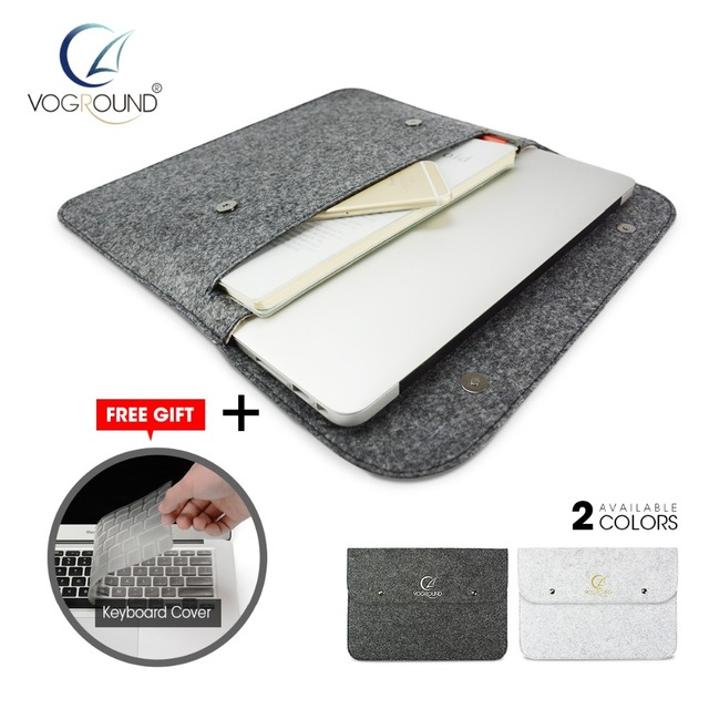 Wool Felt Sleeve Bag Case For Apple Macbook Xiaomi HP Lenovo Dell Air Pro Retina 11 12 13 15 13.3 inch Laptop + Keyboard Cover