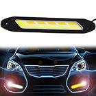 2PCS Car LED Daytime Running Lights DRL Turn Signal Light Indicator COB Car-styling Fog Lights White and Yellow Flexible