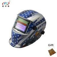 Auto Darkening Predator MIG TIG Solar Customized PP Welding Helmet Mask Hoods Glass Filter TRQ HD74 2233FF