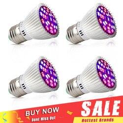 4 pçs/lote espectro completo 28 w led cresce a luz e27 e14 gu10 smd5730 planta lâmpada para mudas vegs flor hidroponia crescente lâmpadas