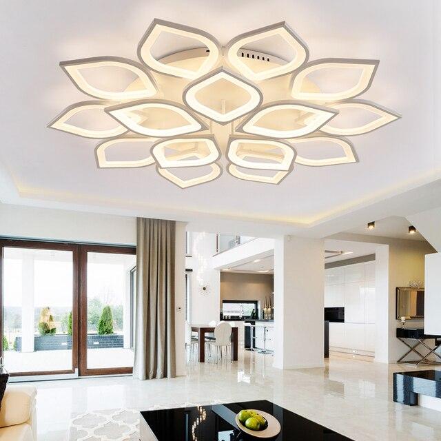 110-220v Aluminum Lotus Led Ceiling Light Plafonnier Led Moderne Living Room Lights Lustres Lamparas Lampara De Techo Sala 23