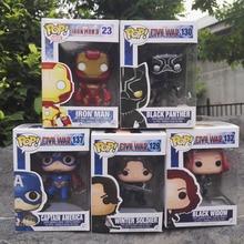 FUNKO POP Captain America 3 Civil War Black Window Iron Man Winter Soldier Avengers 10CM PVC
