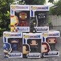 FUNKO POP Homem De Ferro Capitão América 3 Guerra Civil Janela Preta Soldado inverno Vingadores 10 CM PVC Figura Coleção Toy Boneca para as crianças