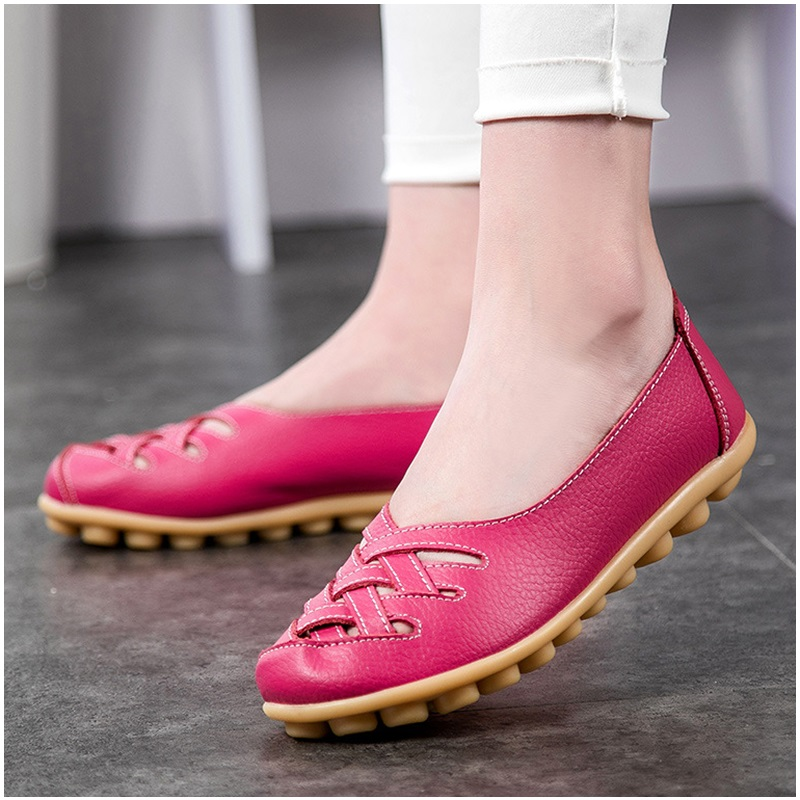 Women's Flats Genuine Leather Flat with Superstar Oxford shoes women loafers Casual Ballet Summer shoes Big size game of thrones casual shoes women house stark winter is coming printed summer style superstar graffiti canvas shoes big size