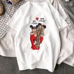 Korean Fashion Clothing 2019 New Arrival T Shirt Tee Shirt Super Mom Female T-shirt Mother's Harajuku Kawaii White Tshirt Women 1
