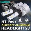 2x72 W H7 9005 CSP LED Car Lâmpadas Dos Faróis CREE 8000LM fichas Único Feixe 6500 K Prata Auto LED de Condução de Luz 12 V veículo + Manual