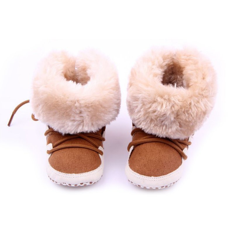 Snow Newborn Baby Boys Girls First Walkers Shoes Soft Crib Toddler Infantil Winter Warm Fleece Booties
