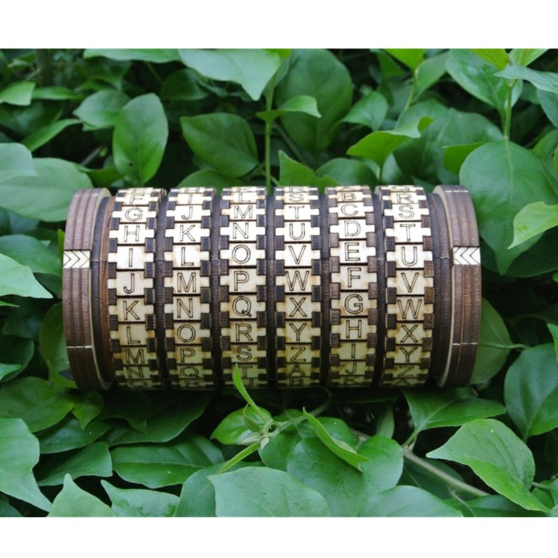 Leonardo Da Vinci Wooden Locks Cryptex Gift Ideas Christmas Gift To Marry Lover Escape Room Props Educational Toys L1749