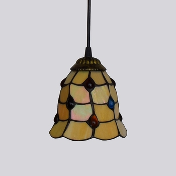 Mediterrane Blauw Gekleurde Bead Restaurant Art Verlichting Bar Terras Gebrandschilderd Glas Gangpad Hanglampen E27 110-240 V 6 Inch 15 CM
