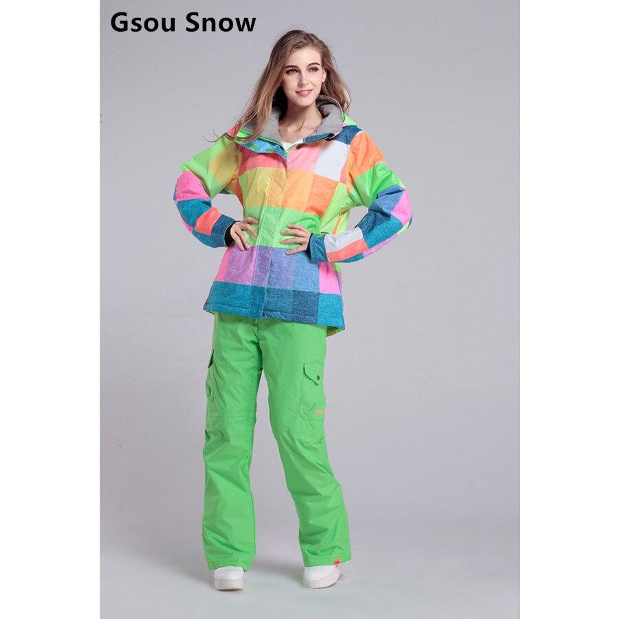 зимний лыжный костюм женский фото