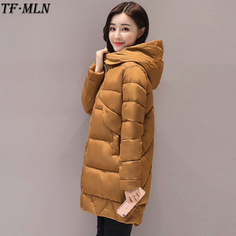 Down Cotton Winter Jacket Women Coat Women Parka Hooded Warm Thicken Winter Long Parkas Overcoat Abrigos mujer invierno 2017 dooley j anna