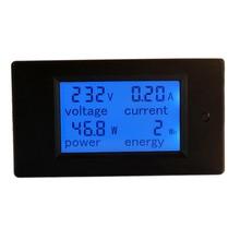 Цифровой измеритель напряжения переменного тока 100A/80~ 260 В мощность энергии Аналоговый вольтметр Амперметр цифровой мультиметр Ампер Вольт Метр монитор с ЖК-панелью