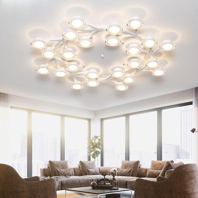 Nordic Drehbare Led Decke Lichter Metall Wohnzimmer Led-deckenleuchte Acryl Schlafzimmer Führte Decken Leuchten