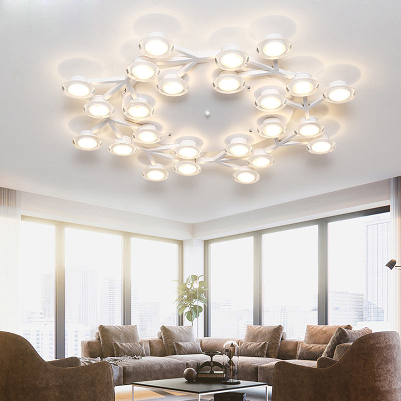 Nordic Rotatable Led Ceiling Lights Metal Living Room Led Ceiling Lamp Acrylic Bedroom Led Ceiling Light Fixtures