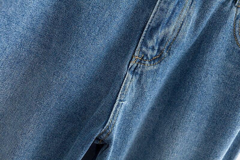 F42 Autumn Winter Plus Size Women Clothing Ankle-length Jeans 4XL Casual Fashion Loose Denim wide leg Pants 8048 13