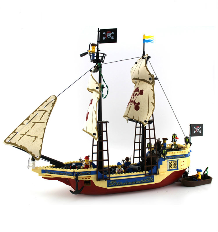 Enlighten 487PCS Pirate Series Pirate Ship Weapons Boat Building Blocks Bricks Sets Kits Action Figure Compatible With Legoe мойка кухонная selena medea 740 бежевый