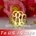 Freeshipping-- Custom Initial Monogram Bracelet Personalize  Gold Plated Monogrammed Name Bracelet Personalized Name Jewelry