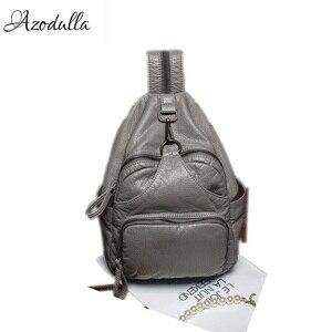 Image 1 - DDWB003 Brand Leather Schoolbag Female Backpacks Women Preppy Style High Quality Sweet Ladies Knapsack Beautiful Girl Backpack