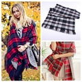 New Classic England Style Patchwork Tassel High Quality Thick Plaid Scarf Soft Warm Long Shawls For Women 4 Styles FreeShipping