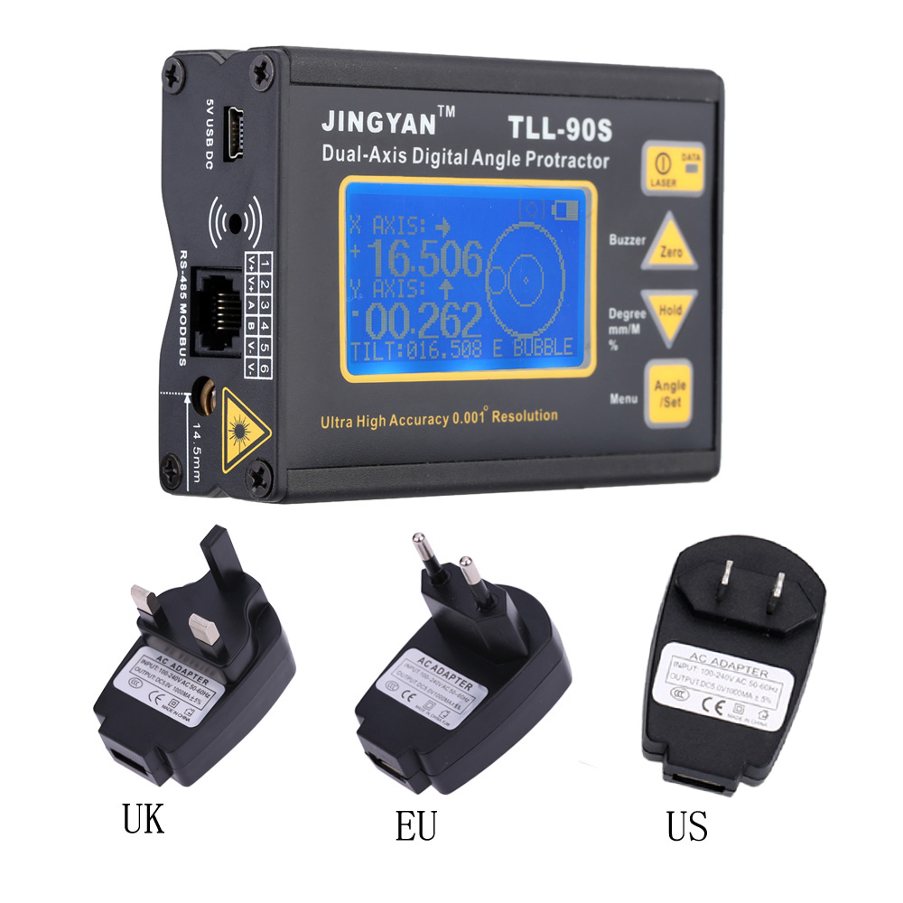 TLL 90S Super High Precision laser level LCD Display Angle Meter 0 005 Professional Dual axis