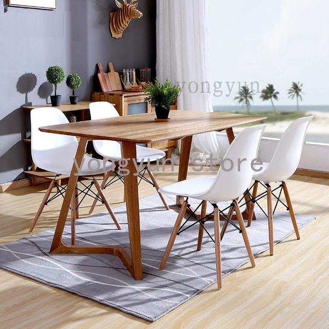 Good Dining Room Furniture Coffee Chair Dining Chair Minimalist Modern Home  Furnitures Plastic And Wood Dining Chairs 4PCS