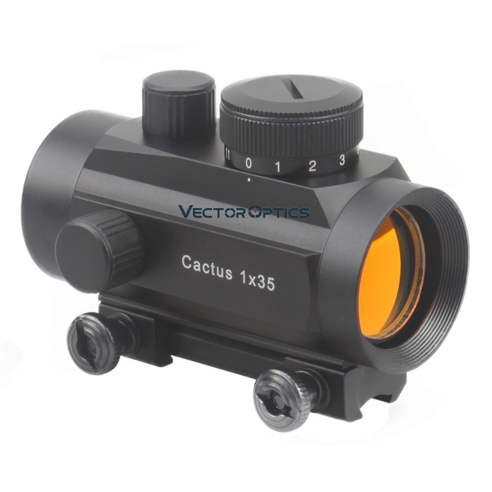 Vector Optics Cactus 1x35 Reflex Dovetail Red Dot Scope Sight With 11mm Mount Base