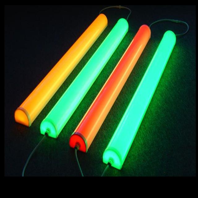 Levou tubo digital led tubo guardrail cerca de cor sólida luz contorno levou cartazes publicitários luz ao ar livre luzes de parede colorfull