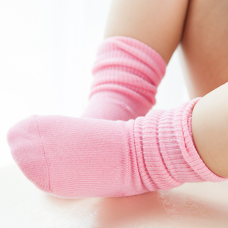 2018 NEW QC2001-20 Bamboo Fiber Candy Color School Socks Floor Children Sports Socks Ankle Pure Color Sock