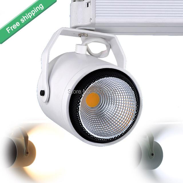 40 W COB Teto LED Faixa Light Rail Holofotes Vitrine Lâmpada AC 85-265 V Quente/Frio branco Loja de Rastreamento de Teto Luminária