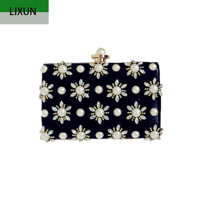 Purse Flowers Evening-Bags Clutches-Diamonds Handmade Wedding Party Mini High-Quality