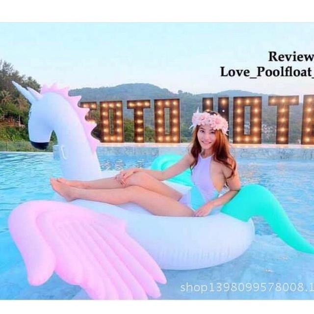 "Rainbow Pegasus Inflable Gigante Piscina Flotadores 94 ""-250 cm Piscina Grande Floatie Flotante Salón Para Adultos Al Aire Libre DHL nave de La Gota"