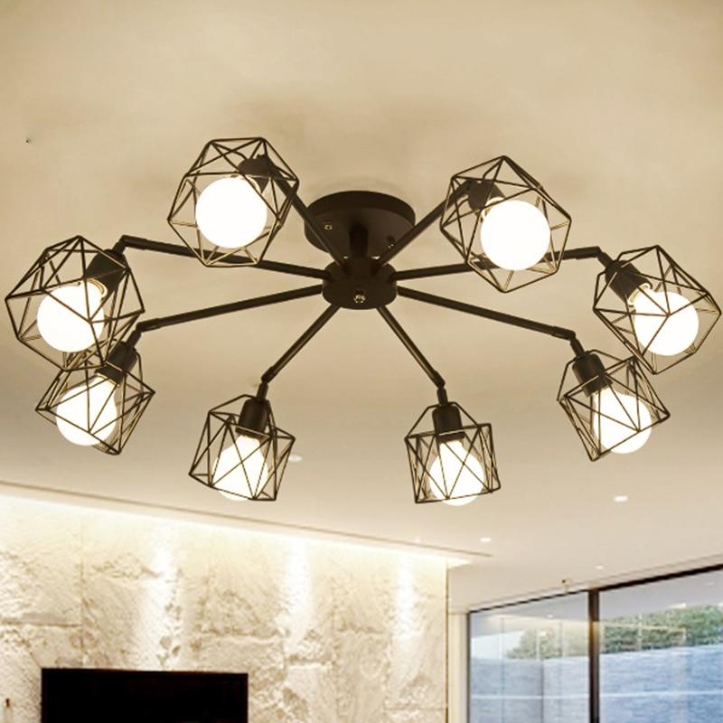 Eiceo Lampu Siling Cina Lampu Ruang Tamu Moderne Kristall Deckenleuchten Aluminium Badan Akrilik Led Lampu Siling Ac185 265