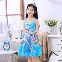 Girls Princess Nightgowns Summer Children's Nightdress Children Short Sleeve Cartoon Nightwear Kids Cartoon Sleepwear 2019 New